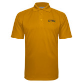 Gold Textured Saddle Shoulder Polo-ETSU