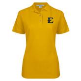 Ladies Easycare Gold Pique Polo-E - Offical Logo