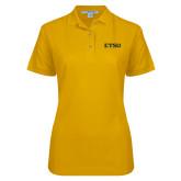 Ladies Easycare Gold Pique Polo-ETSU