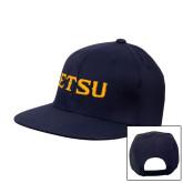 Navy Flat Bill Snapback Hat-ETSU