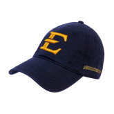 Navy Twill Unstructured Low Profile Hat-E - Offical Logo