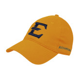 Gold Twill Unstructured Low Profile Hat-E - Offical Logo