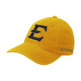 Gold Flexfit Mid Profile Hat-E - Offical Logo