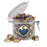 Snickers Satisfaction Round Canister-E - Offical Logo