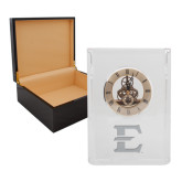 Grand Crystal Clock in Rosewood Box-E - Offical Logo Engrave