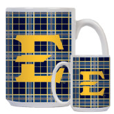 Full Color White Mug 15oz-E w/ Tartan Pattern