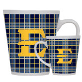 12oz Ceramic Latte Mug-E w/ Tartan Pattern