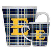 Full Color Latte Mug 12oz-E w/ Tartan Pattern
