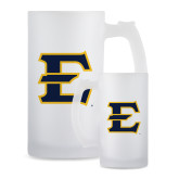 Full Color Decorative Frosted Glass Mug 16oz-E - Offical Logo