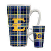 Full Color Latte Mug 17oz-E w/ Tartan Pattern