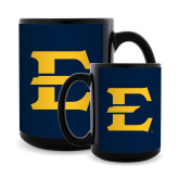 Full Color Black Mug 15oz-E - Offical Logo