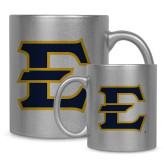 11oz Silver Metallic Ceramic Mug-E - Offical Logo