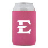 Collapsible Hot Pink Can Holder-E - Offical Logo