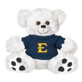 Plush Big Paw 8 1/2 inch White Bear w/Navy Shirt-E - Offical Logo