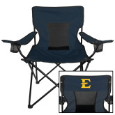 Deluxe Navy Captains Chair-E - Offical Logo