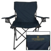 Deluxe Navy Captains Chair-East Tennessee University - Institutional Mark