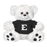 Plush Big Paw 8 1/2 inch White Bear w/Black Shirt-E - Offical Logo