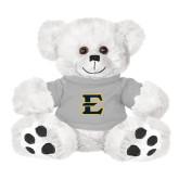 Plush Big Paw 8 1/2 inch White Bear w/Grey Shirt-E - Offical Logo