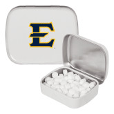 White Rectangular Peppermint Tin-E - Offical Logo