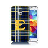 Galaxy S5 Phone Case-E w/ Tartan Pattern