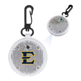 Clear Round Flashing Reflector Light-E - Offical Logo