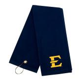 Navy Golf Towel-E - Offical Logo