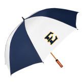 62 Inch Navy/White Umbrella-E - Offical Logo