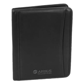 Millennium Black Leather Writing Pad-Airbus Helicopters Debossed