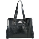 Kenneth Cole Classy Black Ladies Computer Tote-Airbus Helicopters Debossed
