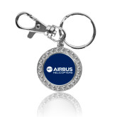 Crystal Studded Round Key Chain-Airbus Helicopters
