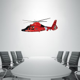 1 ft x 3 ft Fan WallSkinz-USCG MH65 In Sunset Over Ocean