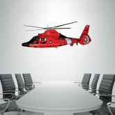 1.5 ft x 4 ft Fan WallSkinz-USCG MH65 In Sunset Over Ocean