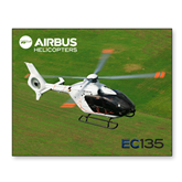 11 x 14 Photographic Print-EC135 Over Green Field