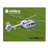 11 x 14 Photographic Print-EC145 Over Green Field