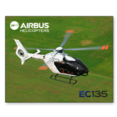 11 x 17 Photographic Print-EC135 Over Green Field