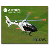 15 x 20 Photographic Print-EC135 Over Green Field