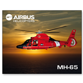 15 x 20 Photographic Print-USCG MH65 In Sunset Over Ocean