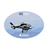 Medium Decal-EC130 Over Mountains, 8 inches wide