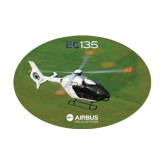 Medium Decal-EC135 Over Green Field, 8 inches wide