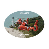 Medium Decal-USCG MH65 Duet Near Ocean, 8 inches wide