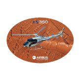 Medium Decal-AS350 Over Mountain, 8 inches wide