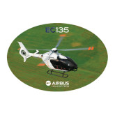 Large Decal-EC135 Over Green Field, 12 inches wide