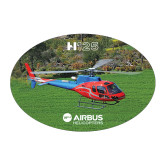 Large Decal-H125 Over Grass, 8.5 inches wide