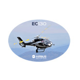 Small Decal-EC130 Over Mountains, 6 inches wide