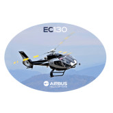 Extra Large Decal-EC130 Over Mountains, 18 inches wide