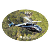 Extra Large Decal-AS350 Over Marsh, 18 inches wide