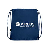 Nylon Navy Drawstring Backpack-Airbus Helicopters