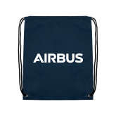Nylon Navy Drawstring Backpack-Airbus