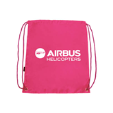 Nylon Pink Drawstring Backpack-Airbus Helicopters