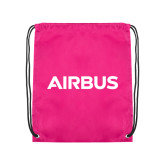 Nylon Pink Drawstring Backpack-Airbus